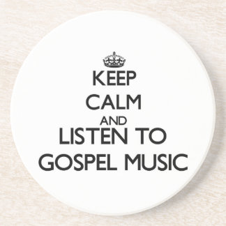 Mantenha a calma e escute a MÚSICA de EVANGELHO Porta-copo