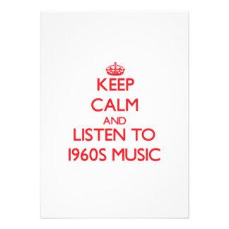 Mantenha a calma e escute a MÚSICA dos anos 60