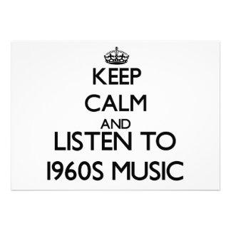Mantenha a calma e escute a MÚSICA dos anos 60 Convite