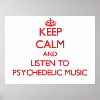Mantenha a calma e escute a MÚSICA PSICADÉLICO