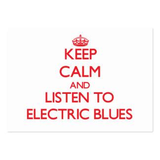 Mantenha a calma e escute AZUIS ELÉTRICOS