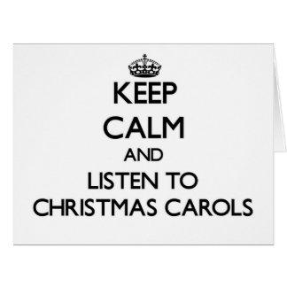 Mantenha a calma e escute CANÇÕES DE NATAL do Cartao