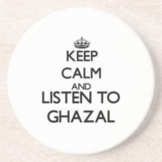 Mantenha a calma e escute GHAZAL Porta Copos Para Bebidas