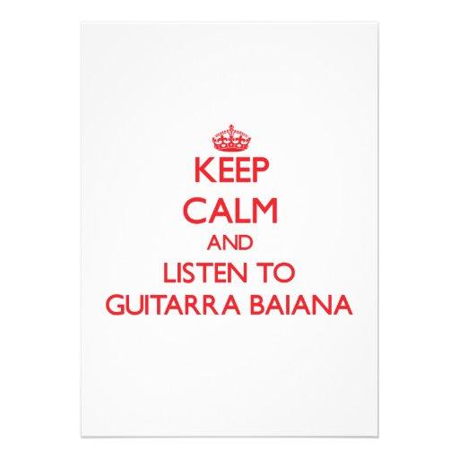Mantenha a calma e escute GUITARRA BAIANA Convites