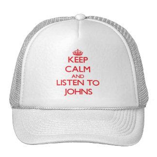 Mantenha a calma e escute Johns