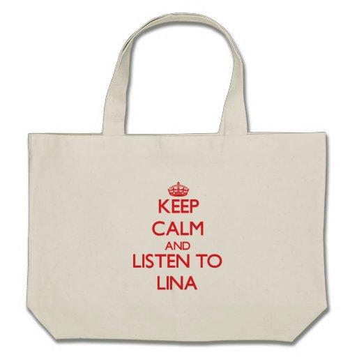 Mantenha a calma e escute Lina Bolsa Para Compra