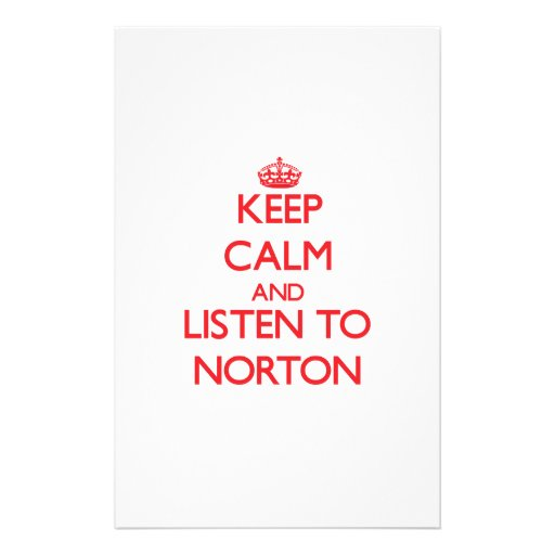 Mantenha a calma e escute Norton Papel Personalizado