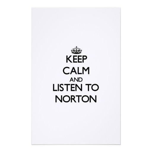 Mantenha a calma e escute Norton Papelaria