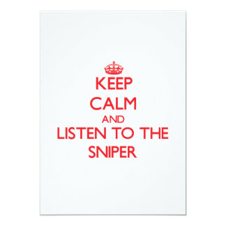 Mantenha a calma e escute o atirador furtivo convite personalizado