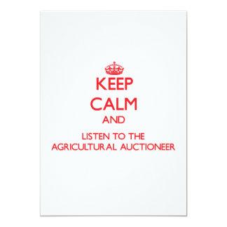 Mantenha a calma e escute o Auctionee agrícola Convite