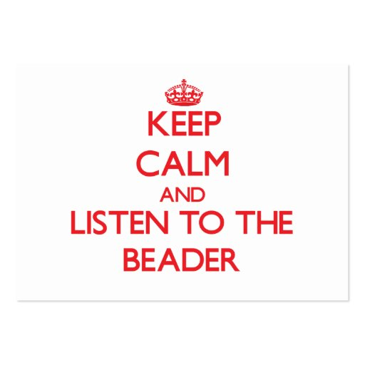 Mantenha a calma e escute o Beader Modelos Cartões De Visitas