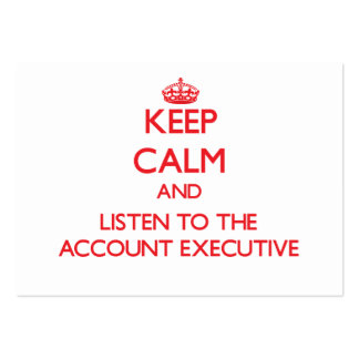 Mantenha a calma e escute o contabilista cartões de visita