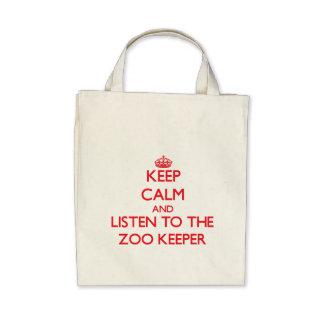 Mantenha a calma e escute o depositário de jardim  bolsas
