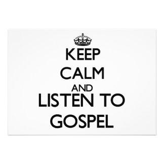 Mantenha a calma e escute o EVANGELHO Convite