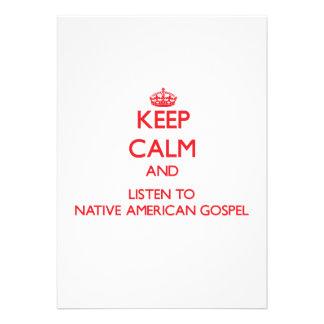 Mantenha a calma e escute o EVANGELHO do NATIVO AM Convites Personalizado