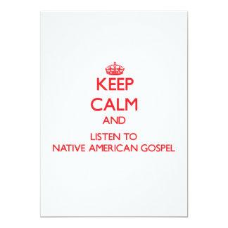 Mantenha a calma e escute o EVANGELHO do NATIVO Convites Personalizado