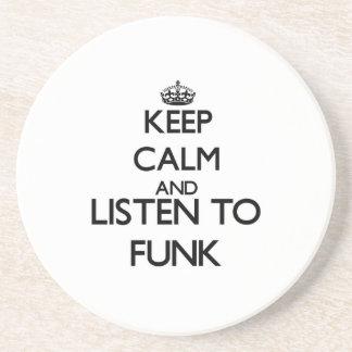 Mantenha a calma e escute o FUNK Porta Copos Para Bebidas