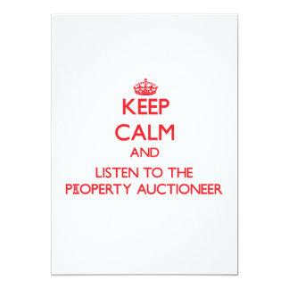 Mantenha a calma e escute o leiloeiro da convite personalizado