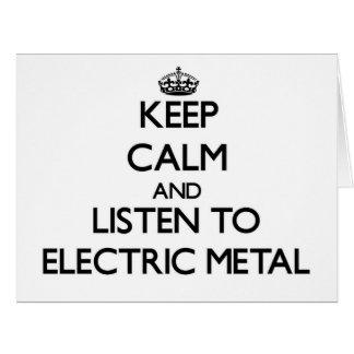 Mantenha a calma e escute o METAL ELÉTRICO Cartoes