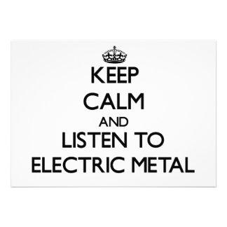 Mantenha a calma e escute o METAL ELÉTRICO Convite Personalizados