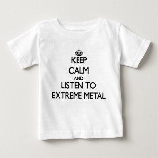 Mantenha a calma e escute o METAL EXTREMO T-shirt