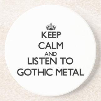 Mantenha a calma e escute o METAL GÓTICO Porta-copo