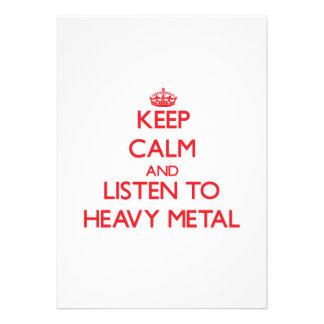 Mantenha a calma e escute o METAL PESADO