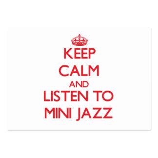 Mantenha a calma e escute o MINI JAZZ