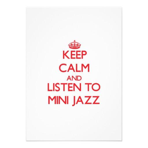 Mantenha a calma e escute o MINI JAZZ Convite