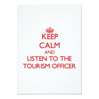 Mantenha a calma e escute o oficial do turismo convite 12.7 x 17.78cm