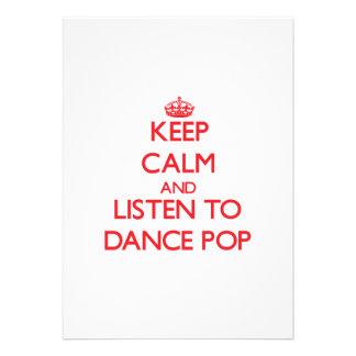 Mantenha a calma e escute o POP da DANÇA