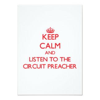 Mantenha a calma e escute o pregador do circuito convites personalizado