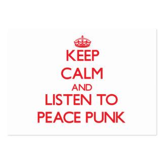 Mantenha a calma e escute o PUNK da PAZ