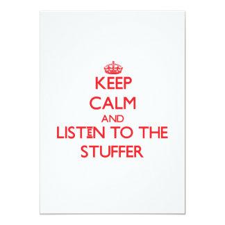 Mantenha a calma e escute o Stuffer Convite