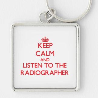 Mantenha a calma e escute o técnico de radiologia chaveiros