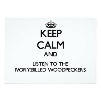 Mantenha a calma e escute o Woodpecke Convite