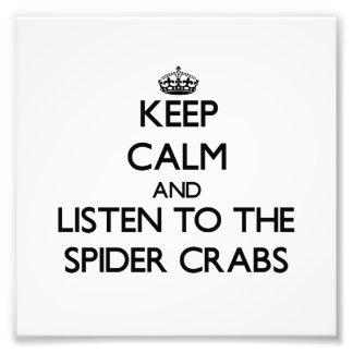 Mantenha a calma e escute os caranguejos de aranha