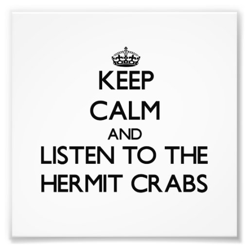 Mantenha a calma e escute os caranguejos de eremit foto
