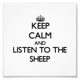 Mantenha a calma e escute os carneiros impressão de fotos