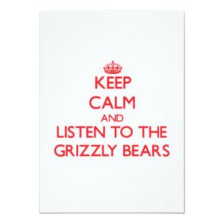 Mantenha a calma e escute os ursos de urso convite