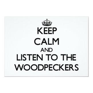Mantenha a calma e escute os Woodpeckers Convite Personalizado