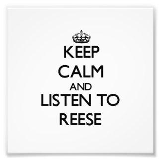Mantenha a calma e escute Reese Foto
