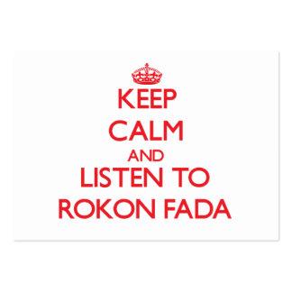 Mantenha a calma e escute ROKON FADA Modelos Cartões De Visitas