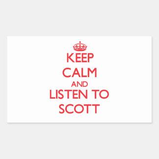 Mantenha a calma e escute Scott Adesivo