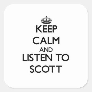 Mantenha a calma e escute Scott
