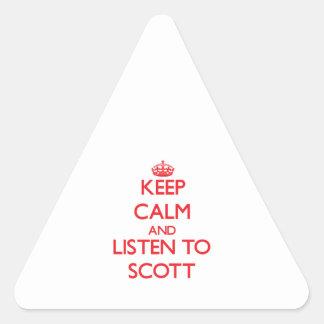 Mantenha a calma e escute Scott Adesivos