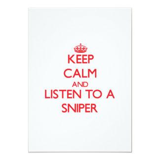 Mantenha a calma e escute um atirador furtivo convite
