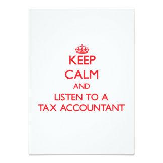 Mantenha a calma e escute um contador do imposto convites personalizados