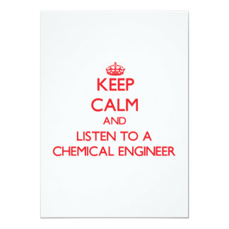 Mantenha a calma e escute um engenheiro químico convites