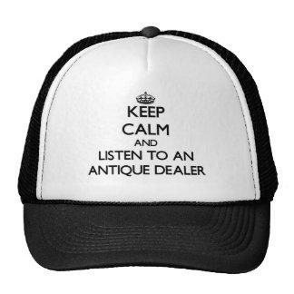Mantenha a calma e escute um negociante antigo bone